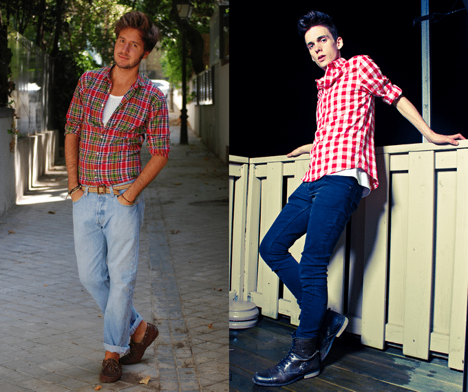 Moda Masculina HQSC - Camisa Xadrez 3