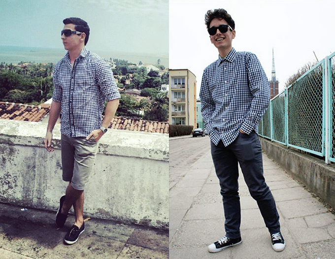 Moda Masculina HQSC - Camisa Xadrez  4