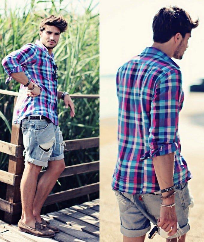 Moda Masculina HQSC - Camisa Xadrez  5