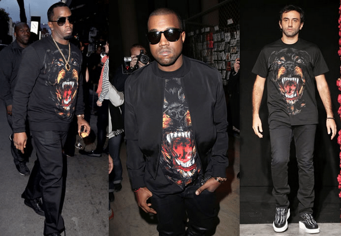 Animal Face para Homens T Shirt Givenchy