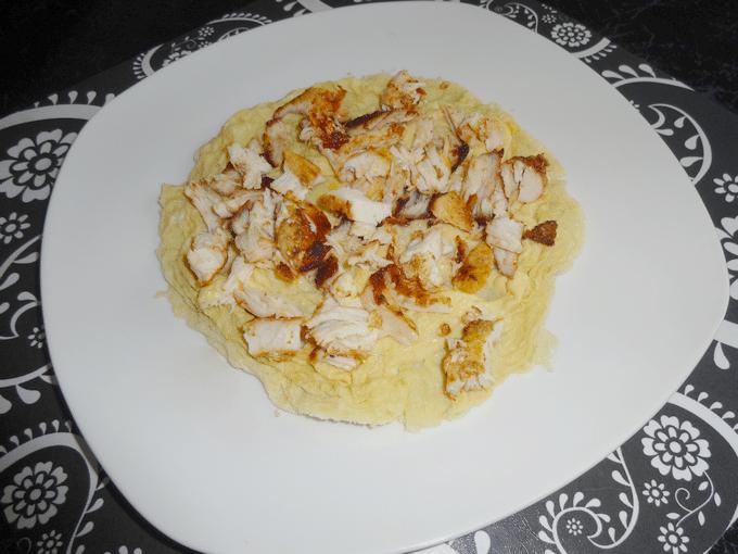 omelete de micro-ondas