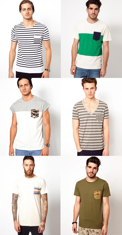 Camisetas com bolso estampado HQSC