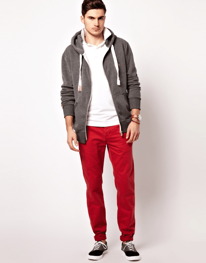 calça vermelha masculina 1