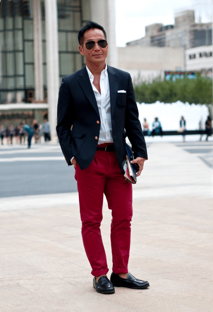calça vermelha masculina 11
