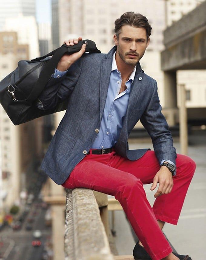 calça vermelha masculina 12