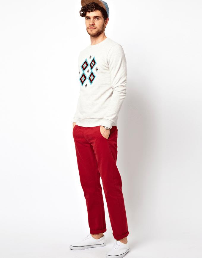 calça vermelha masculina 2