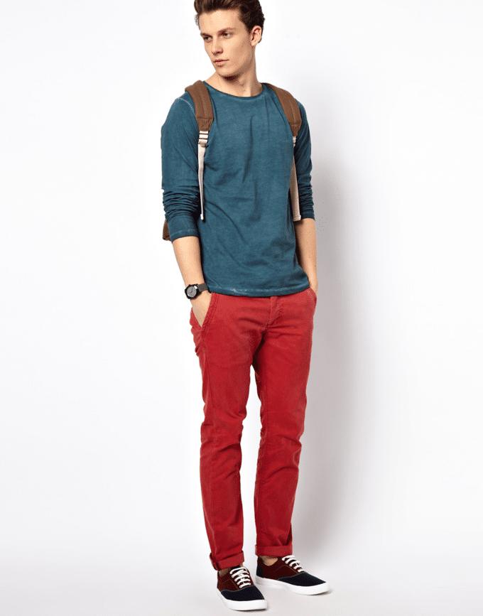 calça vermelha masculina 4
