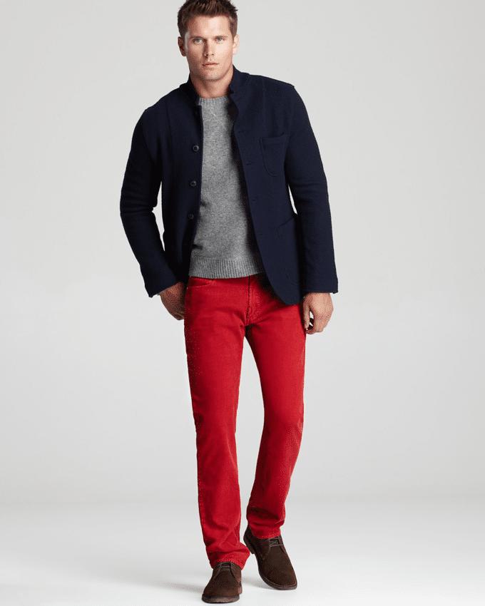 calça vermelha masculina 5