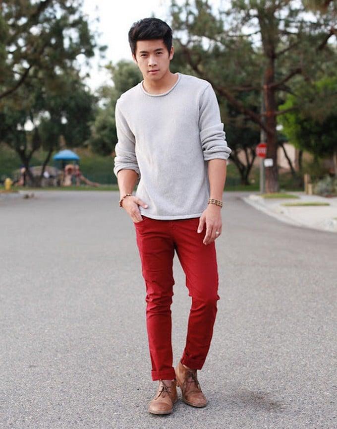 calça vermelha masculina 6
