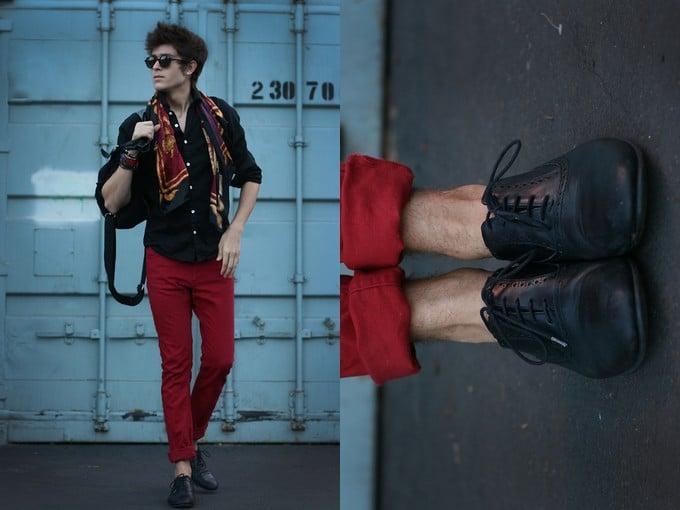calça vermelha masculina 9