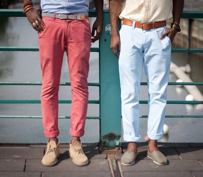 Resultado de imagem para maneiras de usar calça masculina com a barra dobrada