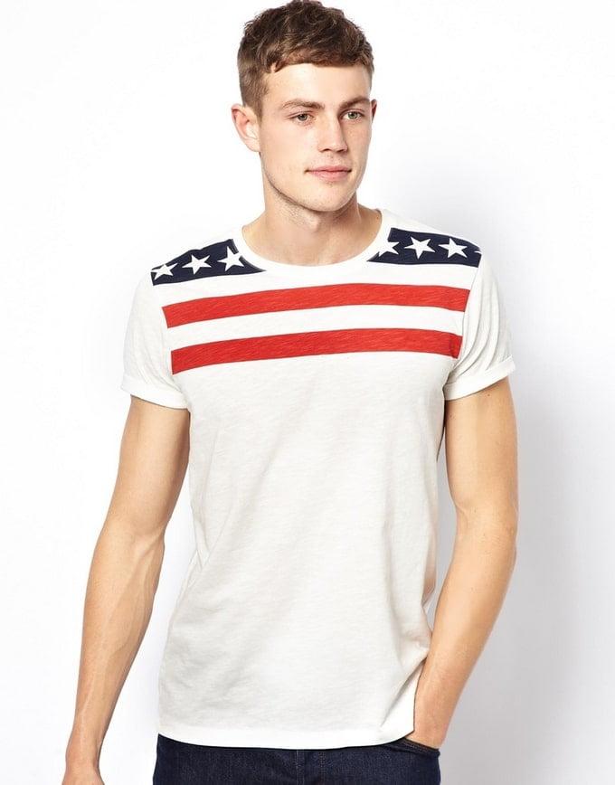 765afd45f2 Camisetas Estampadas com Bandeira  EUA - Homens que se Cuidam