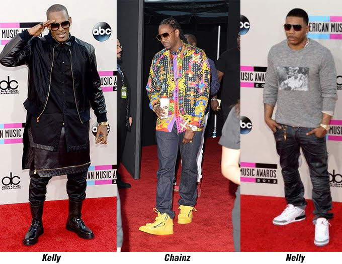 Kelly, Chainz e Nelly - AMA 2013 - HQSC