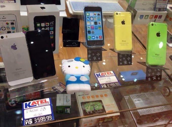 Preço iPhone 5S e 5C no Brasil - HQSC