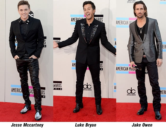 jesse mccartney, Luke Bryan e Jake Owen - AMA 2013 - HQSC