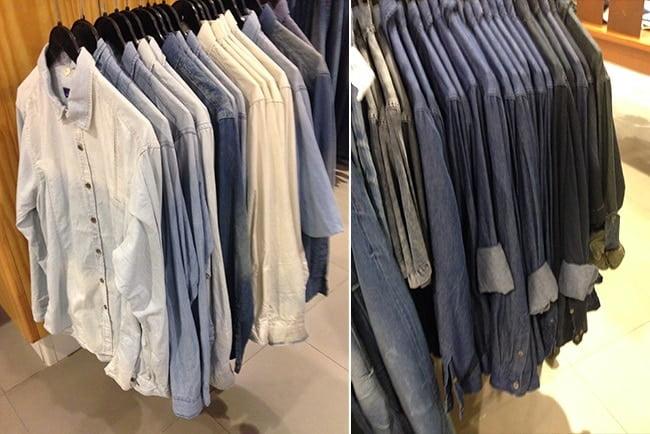 Achados Riachuelo Junho Camisas jeans Moda Masculina HQSC