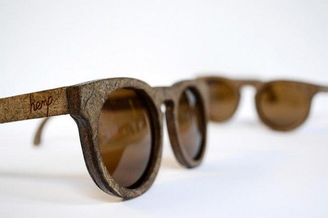 Óculos com armação feita de maconha HQSC 1