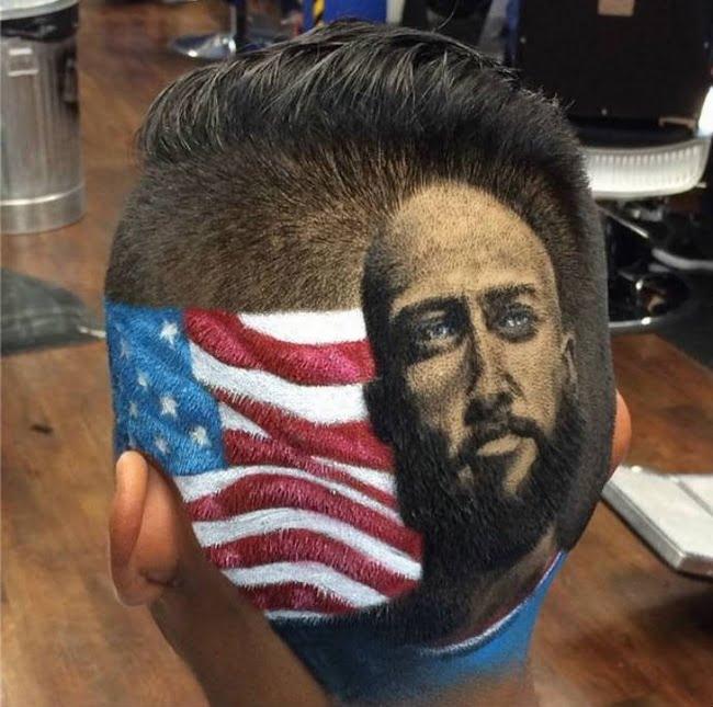 Barbeiro dos EUA desenha rostos dos jogadores da copa nas cabeças dos clientes HQSC 4