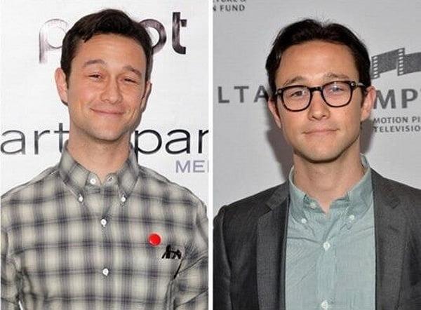 Joseph Gordon antes e depois óculos de grau HQSC