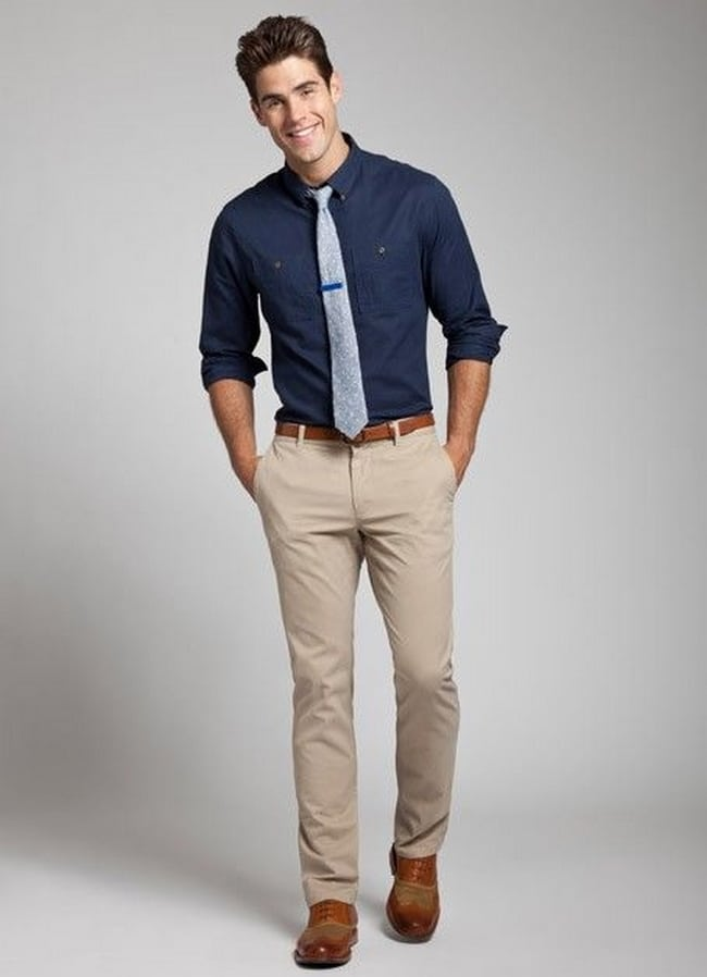 How to wear khaki pants with boat shoes
