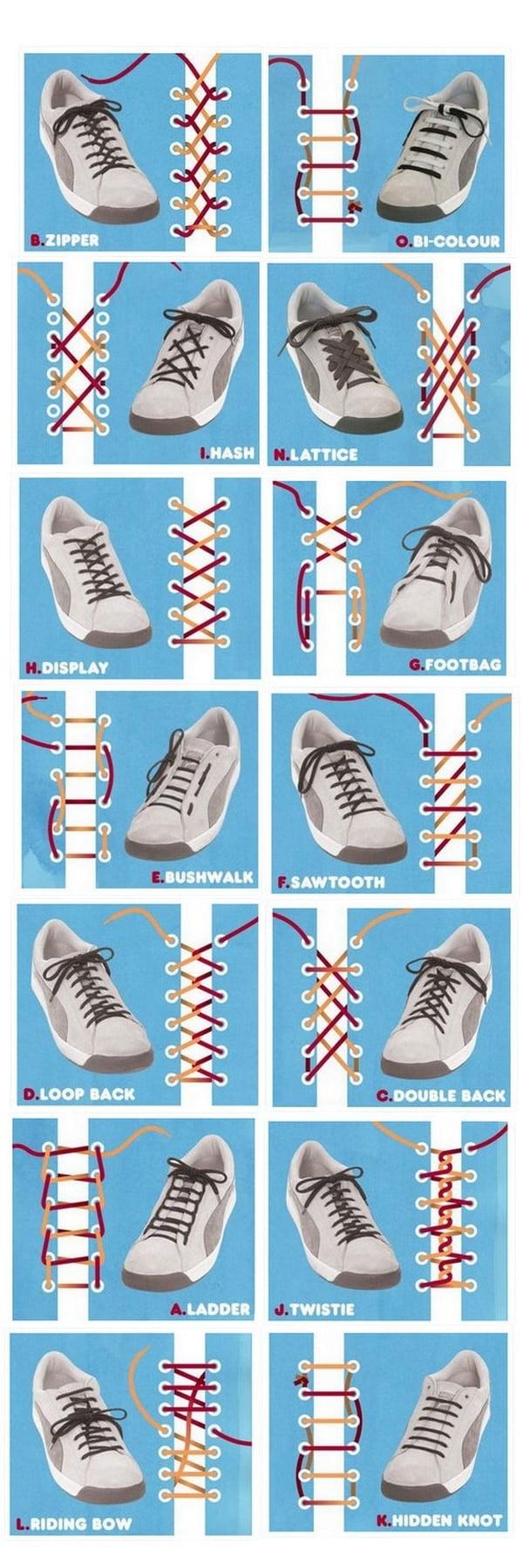 Formas diferentes de amarrar o cadarço HQSC 2