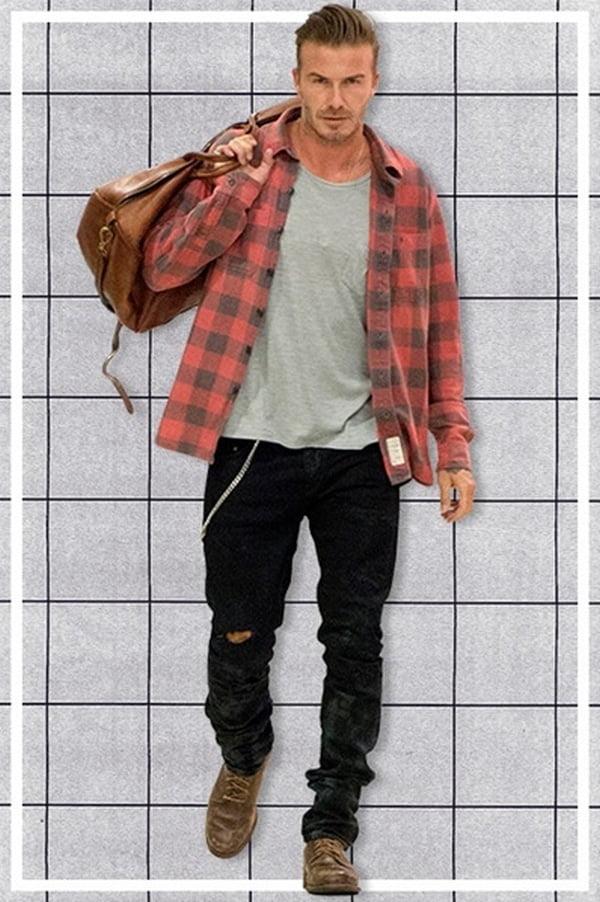 Calça Jeans rasgada masculina HQSC 1234