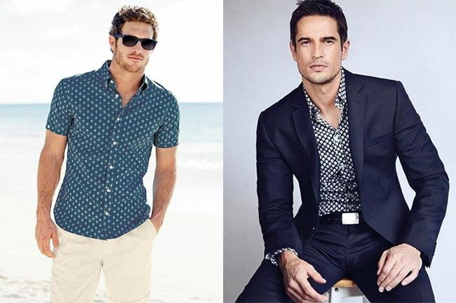 2d0c24f1b As Micro Estampas Conquistaram as Camisas Masculinas - Homens que se ...