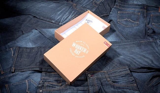 Marca de roupas usa seu próprio Jeans como embalagem HQSC 1