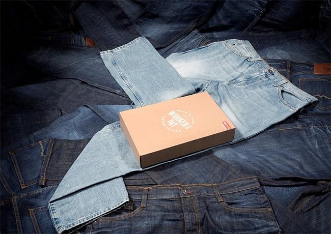 Marca de roupas usa seu próprio Jeans como embalagem HQSC 2