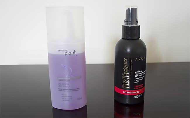 Sprays de Tratamento Avon e Natura HQSC 1