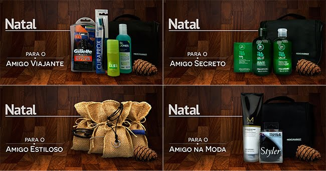 Kits de Natal da Men's Market HQSC