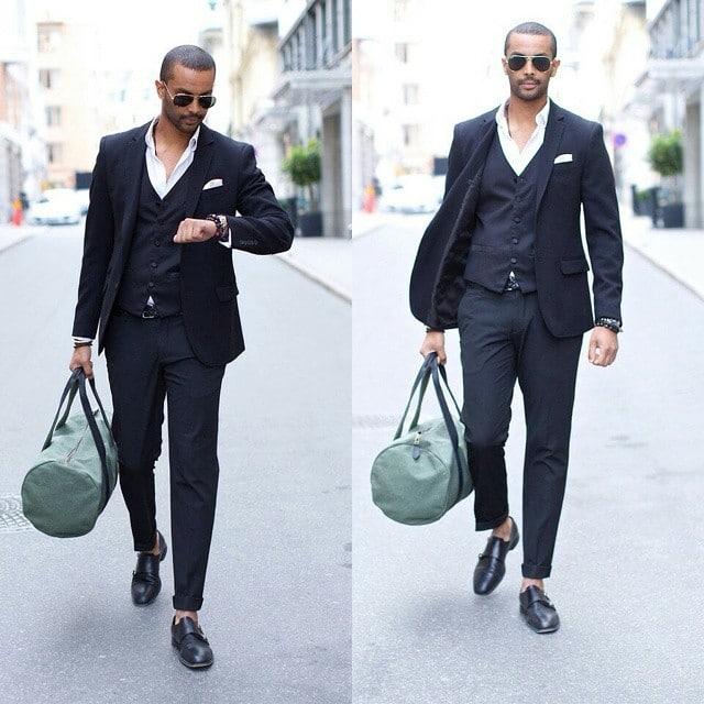 Sapato preto masculino combina com o que HQSC 9