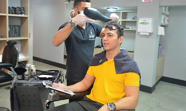 Como alisar o cabelo masculino HQSC 3 1 Selagem dos fios