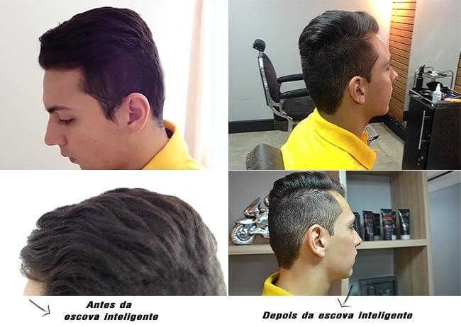 Como alisar o cabelo masculino HQSC 4 Antes e Depois com escova progressiva