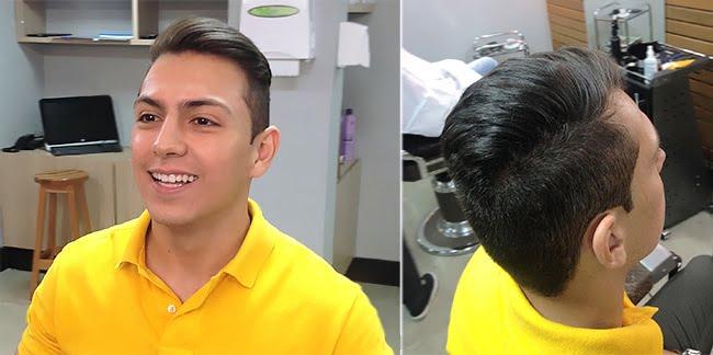 Como alisar o cabelo masculino HQSC 4 Depois com escova progressiva