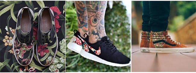 Sapatos com estampa floral HQSC 2