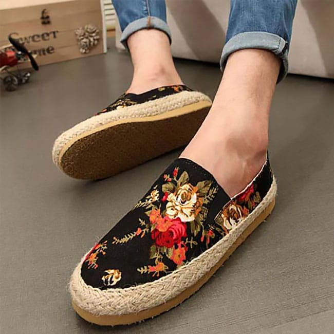 Sapatos com estampa floral HQSC 5 1