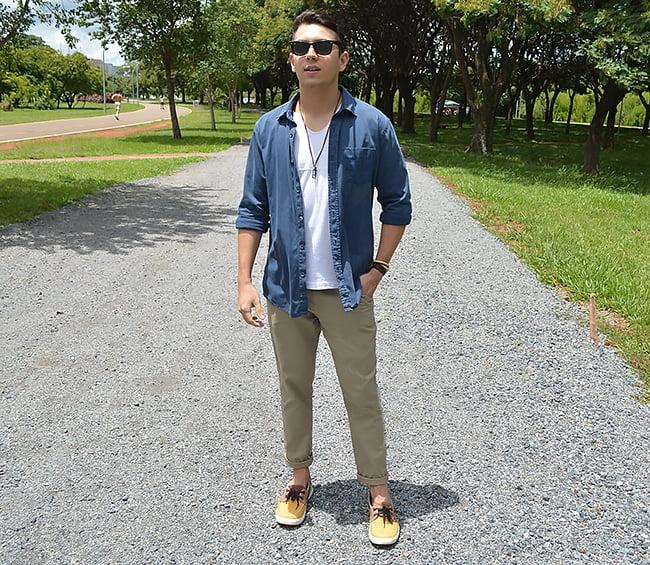 Estilo HQSC Jeans e Chino Homens que se cuidam 2