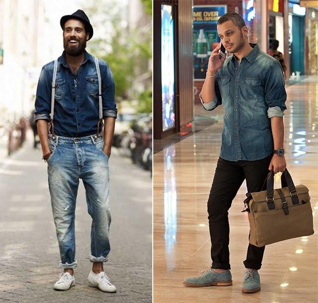 Como Usar Camisa Jeans Masculina Homens que se cuidam 13