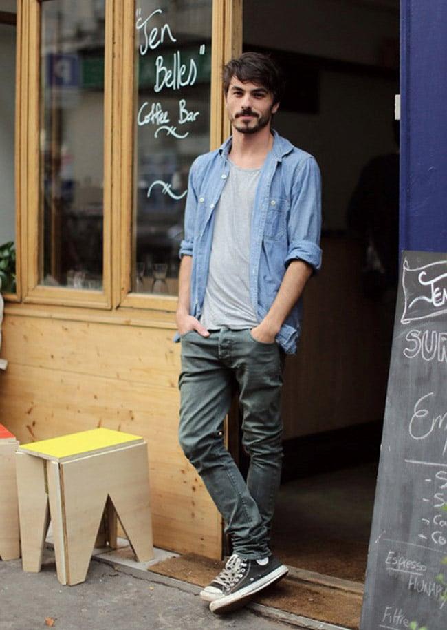 Como Usar Camisa Jeans Masculina Homens que se cuidam 7