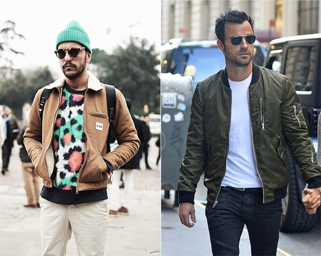 Street Style Masculino com Jaqueta Bomber Homens que se cuidam 00 1