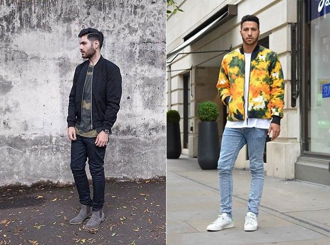 Street Style Masculino com Jaqueta Bomber Homens que se cuidam 00 11