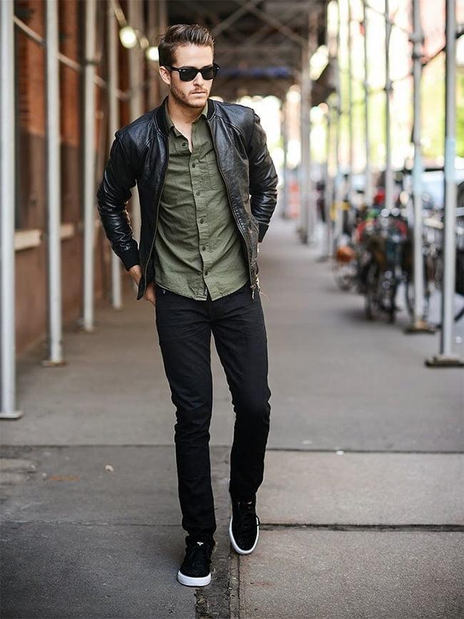 Street Style Masculino com Jaqueta Bomber Homens que se cuidam 10