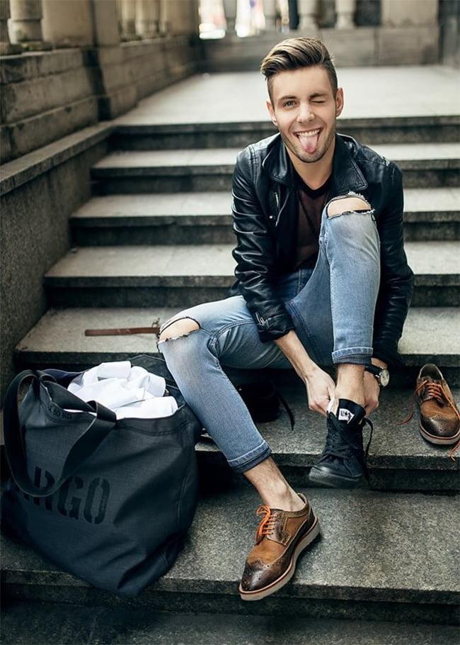 Street Style Masculino com Jaqueta Bomber Homens que se cuidam 9