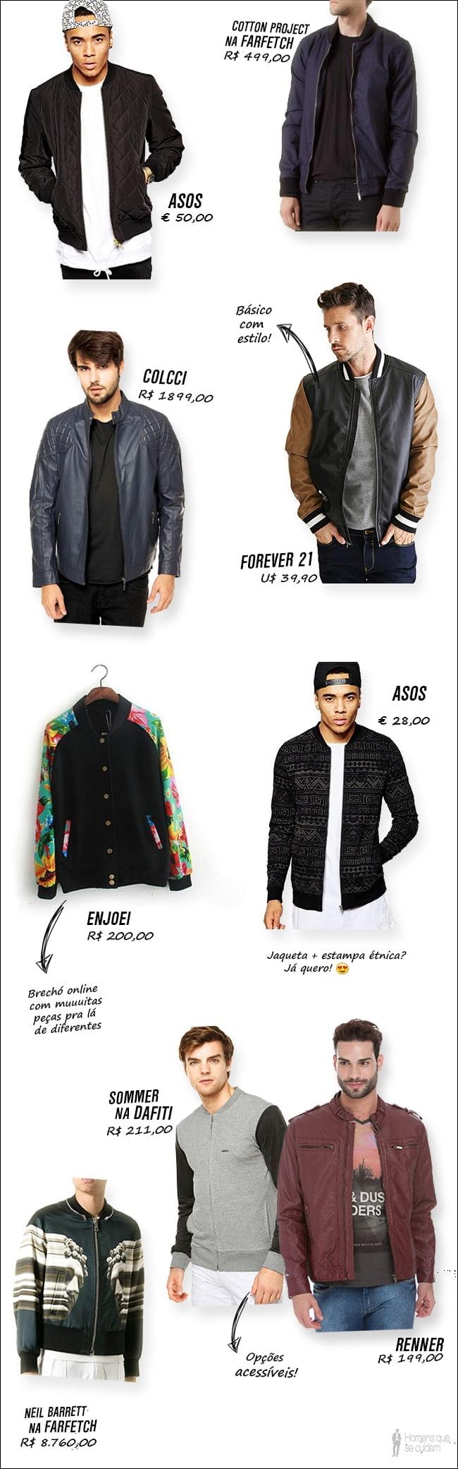 Onde comprar jaqueta de couro bomber masculina homens que se cuidam 5