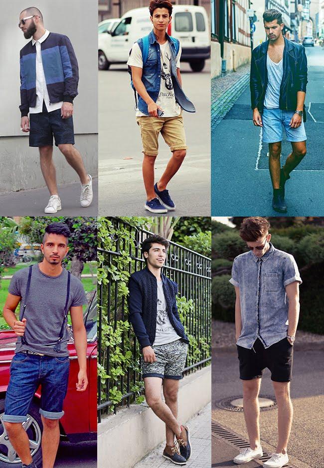 3 - Looks masculinos com bermuda homens que se cuidam  Sobreposições e estampas