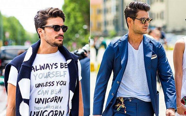 Street Style Direto da Semana de Moda Masculina de Milão Primavera-Verão 2016 2