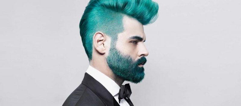 A onda dos cabelos e barbas tingidos Merman Hair Homens que se cuidam  0