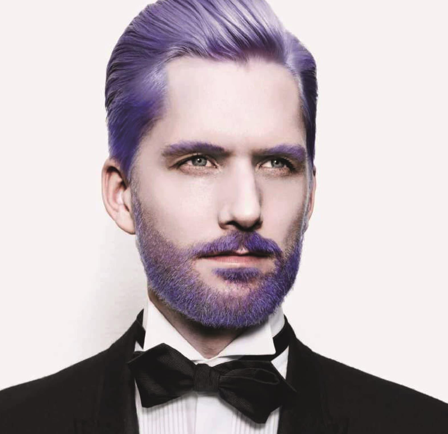 A onda dos cabelos e barbas tingidos Merman Hair Homens que se cuidam 10