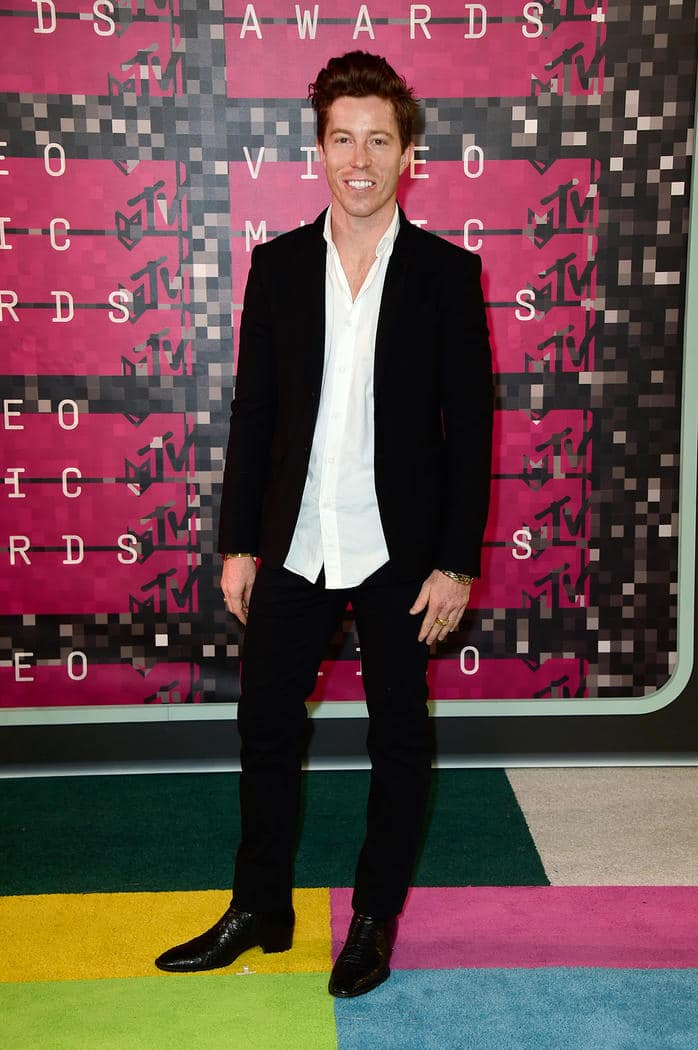 Looks Masculinos do VMA Homens que se cuidam Shaun White